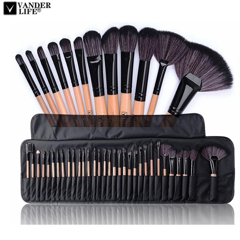 32pcs Professional Makeup Brushes Set Make Up Powder Brush Pinceaux - JJslove.com