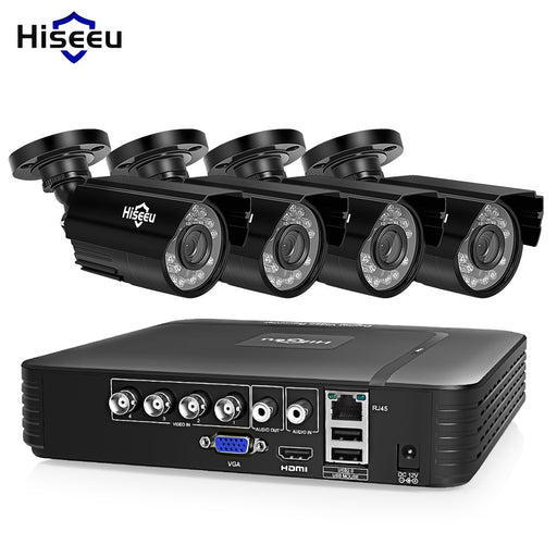 Hiseeu CCTV camera System 4CH 720P/1080P AHD security Camera - JJslove.com