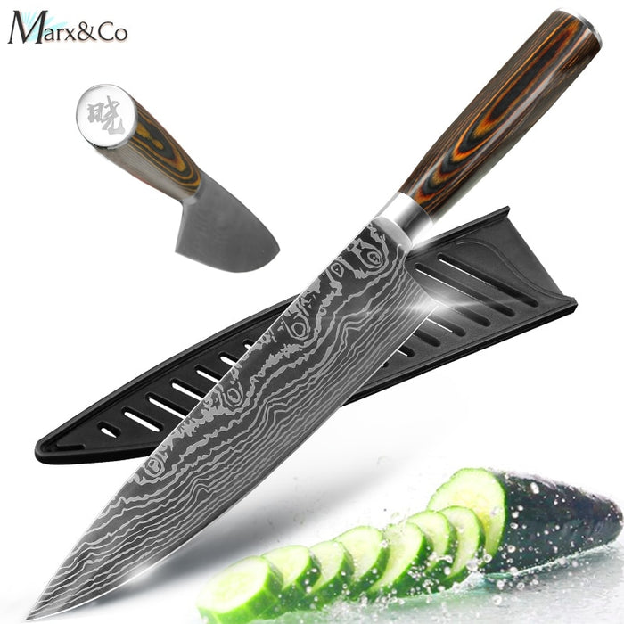 Kitchen knife Chef Knives 8 inch Japanese 7CR17 440C High Carbon Stainless Steel Knife - JJslove.com