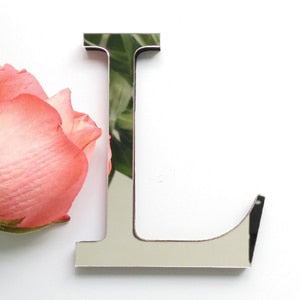 diy wall stickers 3d sticker acrylic decoration wedding gift love letters decorative Alphabet wall decor - JJslove.com