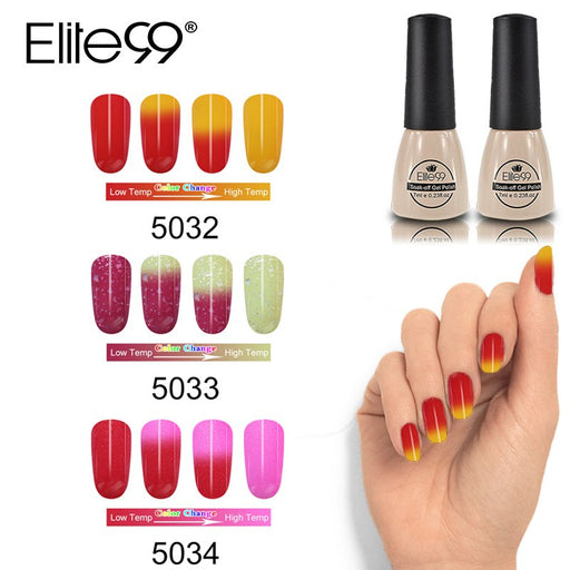 Elite99 7ml Thermal Thermo Mood Color Changing Nail Polish - JJslove.com