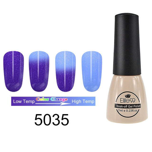 Elite99 7ml Thermal Temperature Change Color Gel Nail Polish - JJslove.com