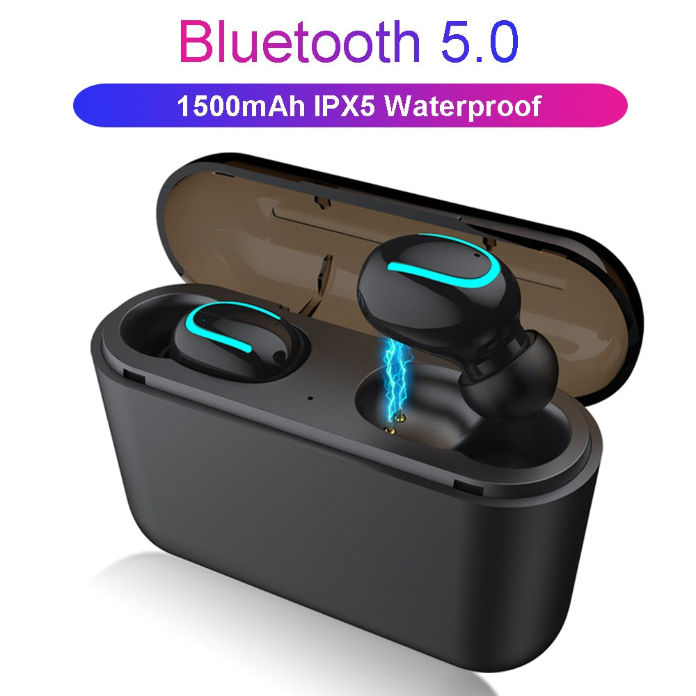 Bluetooth 5.0 Earphones TWS Wireless Headphones Blutooth Earphone Handsfree Headphone Sports Earbuds Gaming Headset Phone PK HBQ - JJslove.com