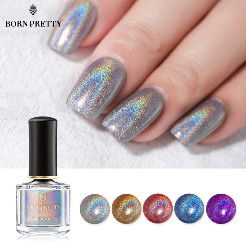 BORN PRETTY Holographic Laser Nail Polish 6ml Flourish Series Varnish Shining Glitter Nail Art - JJslove.com