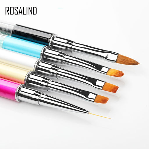 ROSALIND Nail Brush Nail Art Manicure Brushes Set - JJslove.com