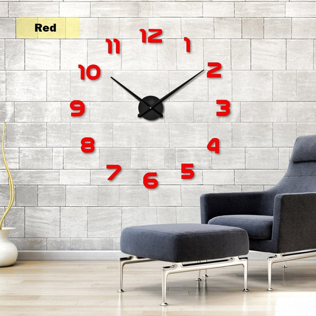 Free Shipping New Clock Watch Wall Clocks Horloge 3d Diy Acrylic Mirror Stickers - JJslove.com
