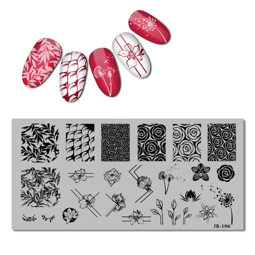 Stainless Steel Stamping Plate Template Xmas Christmas Snow Nail Tool - JJslove.com