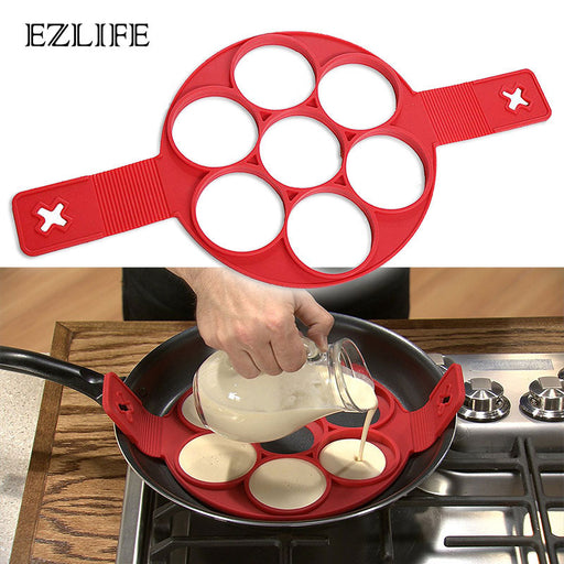 EZLIFE Fried Egg Mold Pancake Mold Maker Silicone Forms Non-stick Simple Kitchen Accessories - JJslove.com
