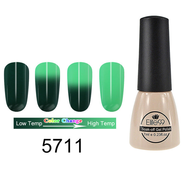 Elite99 Thermal Color Changing Gel Nail Polish Hot Cold Temperature Nail Art - JJslove.com
