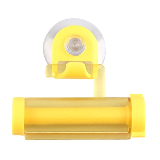 Plastic Toothpaste Dispenser Sucker Holder Rolling Tube Squeezer Dental Cream Bathroom - JJslove.com