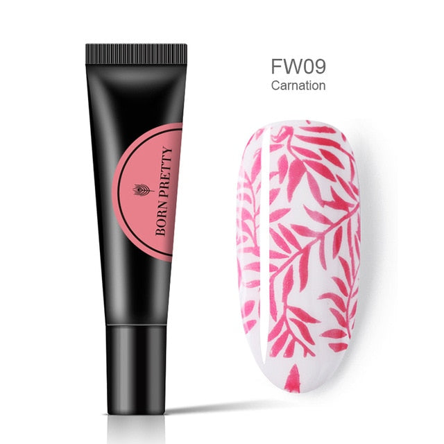 JJ'slove Nail Stamping Gel Polish Stamp Print Oil UV Gel - JJslove.com
