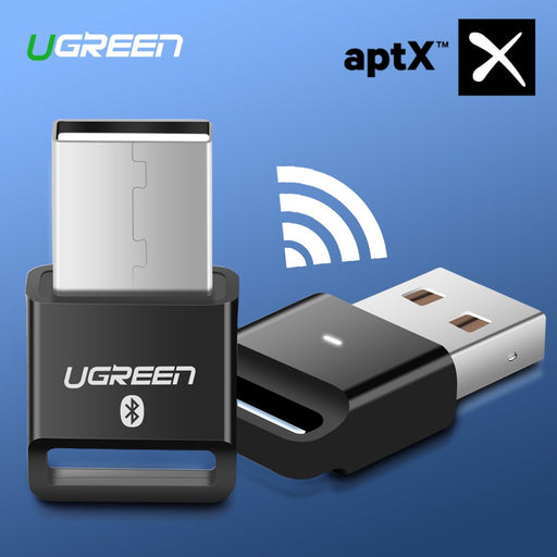 Ugreen USB Bluetooth Dongle Adapter 4.0 for PC Computer Speaker Wireless Mouse Bluetooth Music Audio Receiver Transmitter aptx - JJslove.com