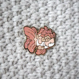 Floral Goldfish Pin