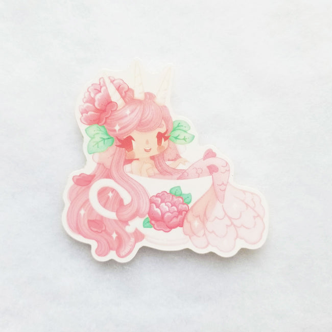 Teacup Mermaid Sticker