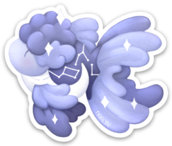 Galaxy Goldfish Sticker