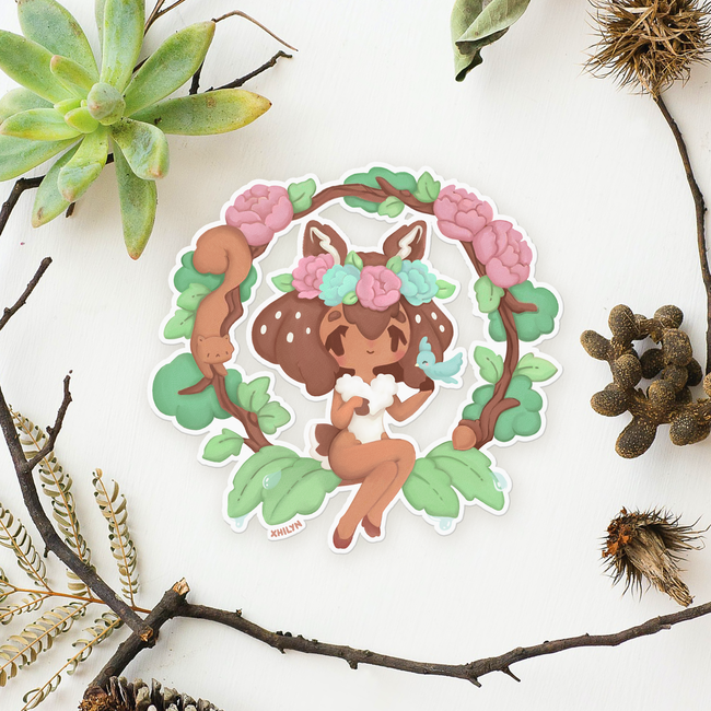 Forest Fawn Sticker