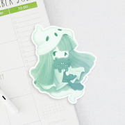Ghost Girl Sticker