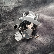 Black Cat Witch Pin