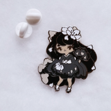 Black Kitsune Pin - Limited Edition