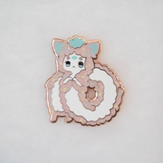Long Furby Sprinkled Donut Pin