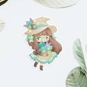 Herbology Witch Sticker