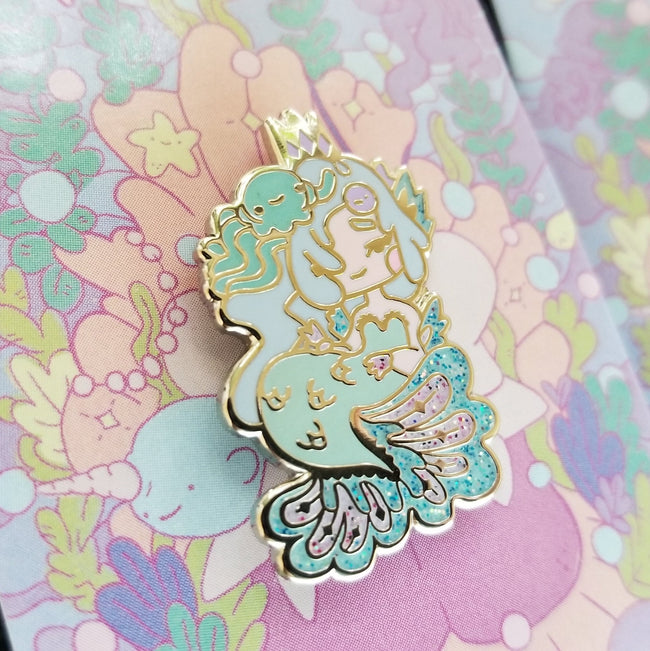 Blue & Green Mermaid Pins