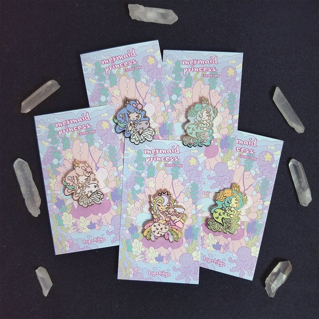 Mermaid Princesses ~ Weatherproof Vinyl Sticker