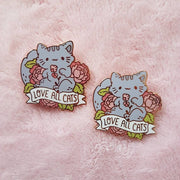 Love All Cats Charity Pin - For Winn Feline Foundation