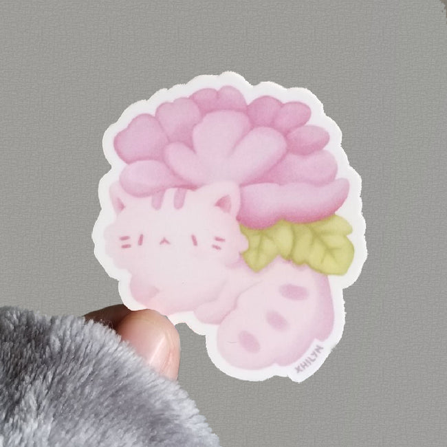 Kitty Planter Sticker