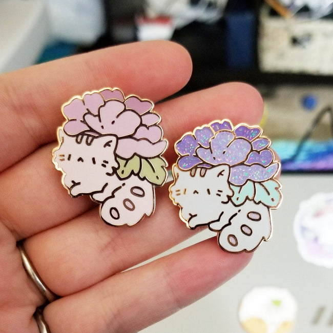 Kitty Planter Pins