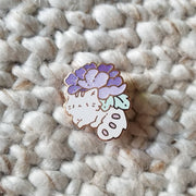 Purple Kitty Planter Pin