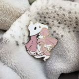 Pink Ghost Girl Pin - Limited Edition