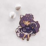 Purple Kitsune Pin - Limited Edition