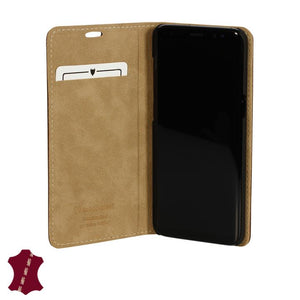 Samsung Galaxy S8 Genuine European Leather Notebook Case with Stand | Artisancover (3rd Gen.)