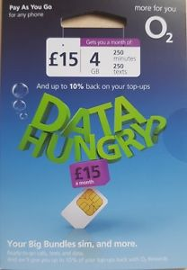 O2 SIM Card 5GB - Pay As You Go