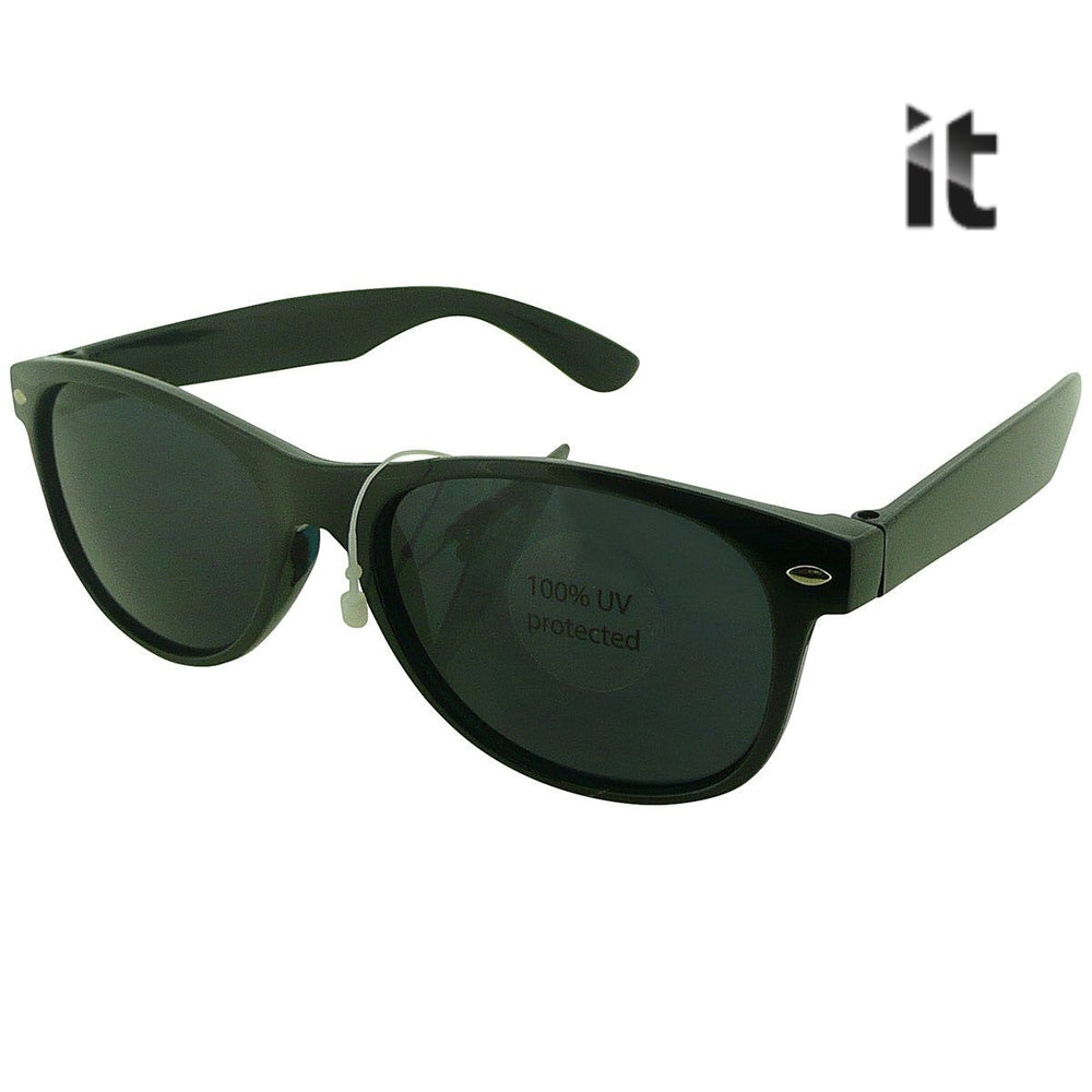 IT Black Classic Wayfarer Sunglasses Stylish - Full UV Protection