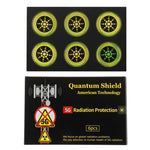 Quantum Anti Radiation Shield 5G EMF Protection - Phones Laptops - 6 Stickers UK