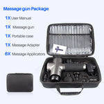 Massage Gun - Deep Tissue - Muscle Vibration Therapy - 6 Heads LCD Display
