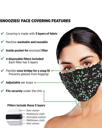 Snoozies Bling Dazzle Face mask