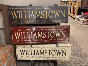 Cream Williamstown Home Painted Sign