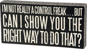 Box Sign - Control Freak
