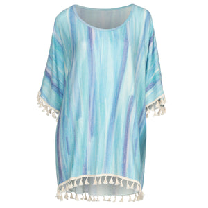 Blue Marbled Cover up one size