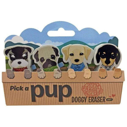 Pick A Pup Eraser Set