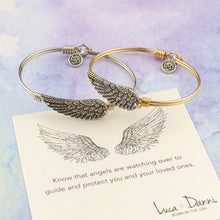 Load image into Gallery viewer, Angel Wing Bangle Bracelet