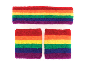 Rainbow Sweatband set