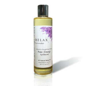 Natural Hand and Body Oil 8 Oz (Lavender)