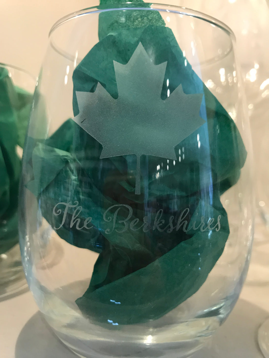 Stemless wine glass Berkshire Maple Leaf set of 4