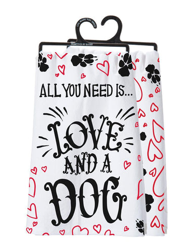 Love and a Dog Dish Towel