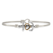 Load image into Gallery viewer, Anchor Bangle Bracelet