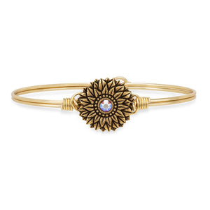 Sunflower Bangle Bracelet